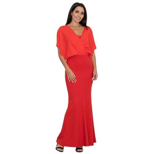 Figl Ženska haljina M577 smeđa   Crveno  Cene