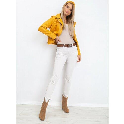 Fashionhunters Ecru slim fit ženske hlače RUE PARIS  Cene