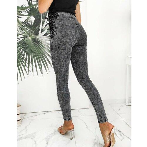 DStreet Ženske traperice skinny fit VERONS siva UY0623 crna | siva  Cene