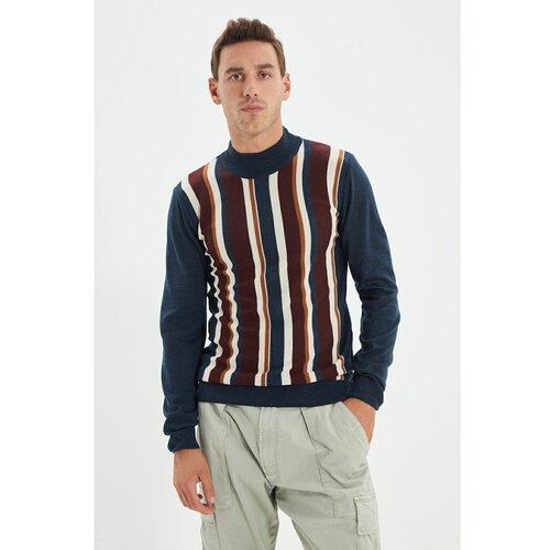 Trendyol Tamnoplavi muški tanki džemper na pola do pola sa tankim rukavom  Cene