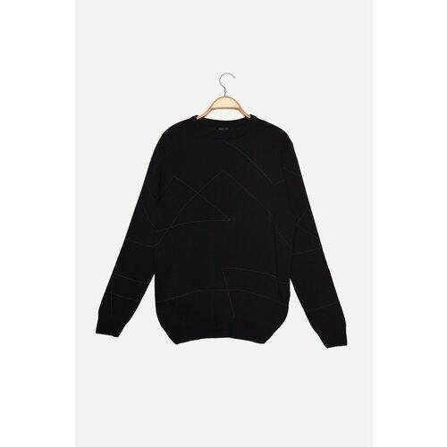Trendyol Tamnoplavi muški džemper s tankim krojem s grlom za vrat  Cene