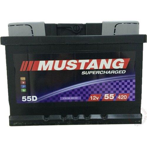 Mustang 12 V 55 Ah L+ akumulator Slike