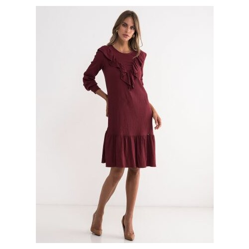 Legendww bordo haljina sa karnerima 5801-7987-97 Slike