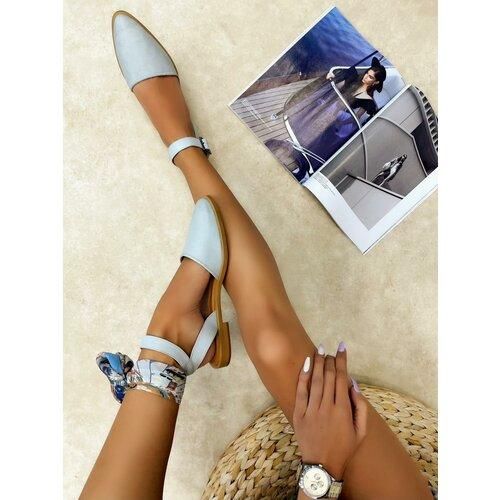Hop Hop 16442 - kožne sandale kalia - plava  Cene