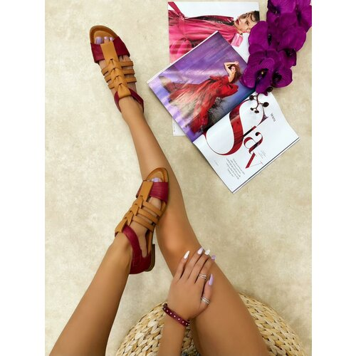 Hop Hop 16403 - kožne sandale logan - ciklama  Cene