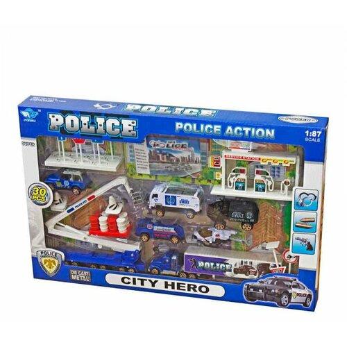 Best Luck policijski set vozila + znakovi Slike