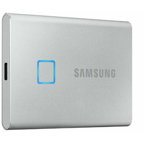 Samsung Portable T7 Touch 1TB MU-PC1T0S srebrni eksterni ssd hard disk Slike