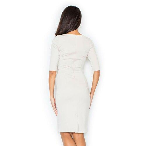 Figl Ženska haljina M202 bela | braon  Cene