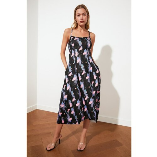 Trendyol Ružičasta osnovna haljina Crna siva Slike