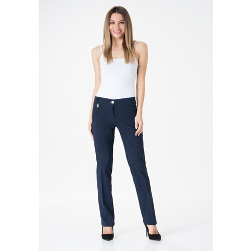 MiR Ženske hlače 206 Navy Blue blue bijela  Cene