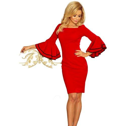 NUMOCO Ženska haljina 188 braon   narandžasta   crvena  Cene