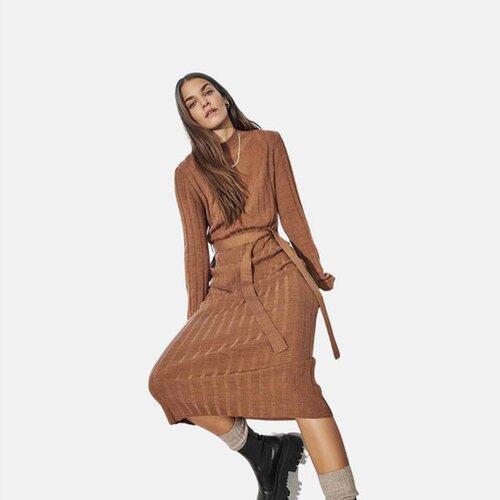 Only ženska haljina 15236373 svetlo braon  Cene