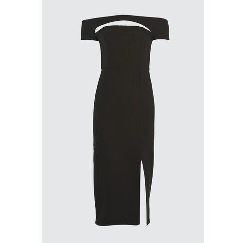 Trendyol Crna haljina sa dekolteom crna | bela  Cene