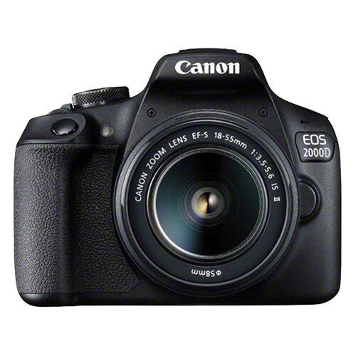 Canon EOS 2000D (Crna) + 18-55mm IS II digitalni fotoaparat Slike