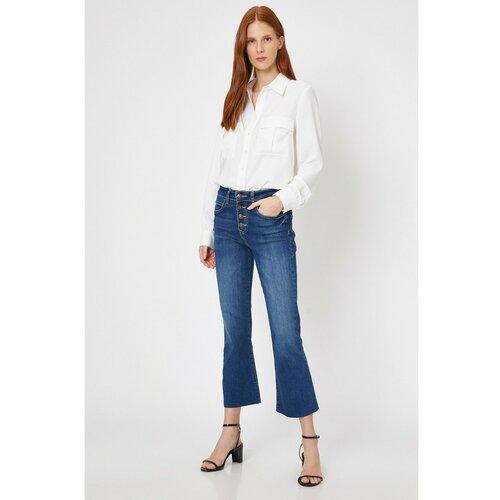 Koton Ženske plave hlače plave boje siva  Cene