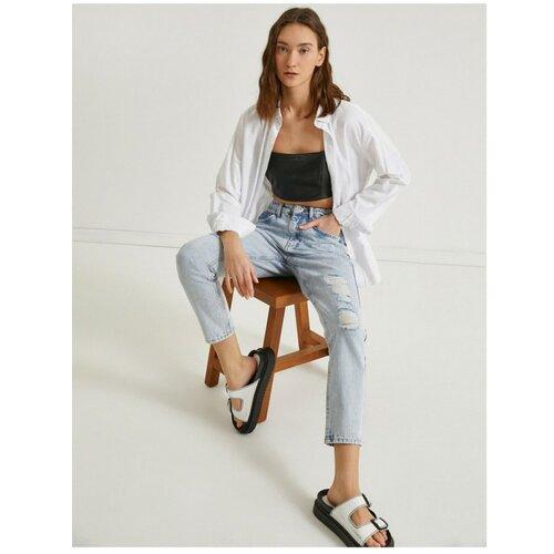 Koton Ženske plave hlače sa tankim nogama  Cene