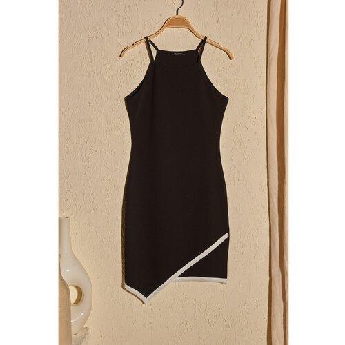 Trendyol Ženska haljina na remen crna krema  Cene
