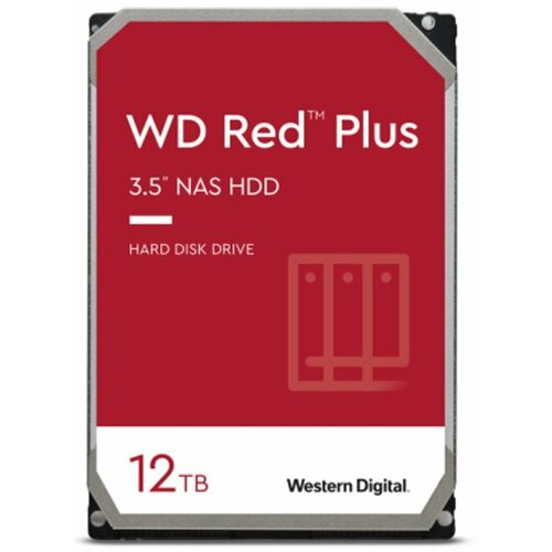 Western Digital SATA3 12TB WD120EFBX WD Red Plus 7200rpm 256MB Cache hard disk Slike