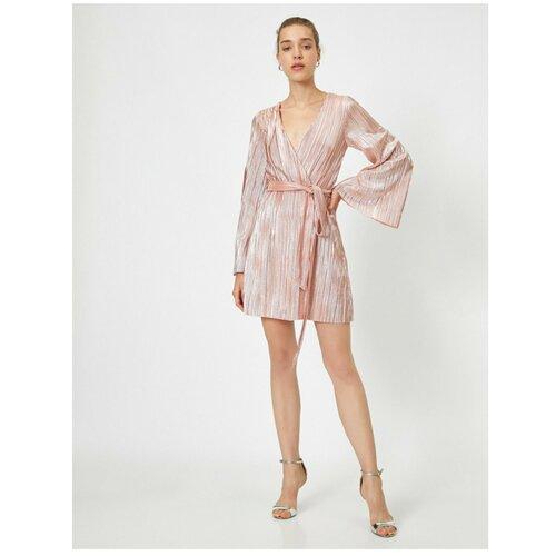 Koton Plisirana haljina Večernja haljina Pojas Detalji Sjajna  Cene