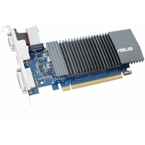 Asus GT710-SL-2GD5, GeForce GT 710, 2GB/64bit DDR5, VGA/DVI/HDMI, silent grafička kartica Slike