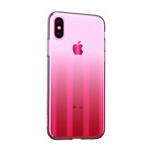 Baseus futrola Aurora za Iphone XS Max roze Slike
