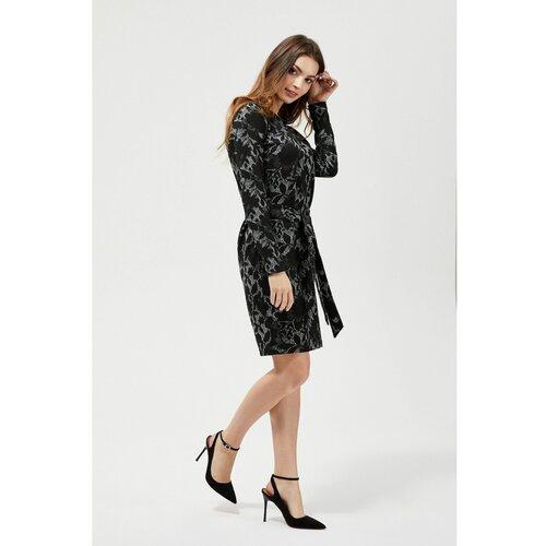 Moodo crna haljina sa cvjetnim uzorcima Slike