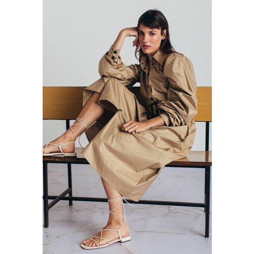 Mona midi haljina s puf rukavima 54114501-1  Cene