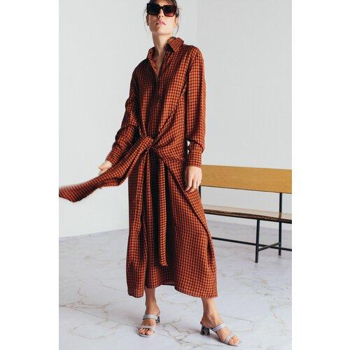 Mona maxi karirana haljina s pojasom 54115501-1  Cene