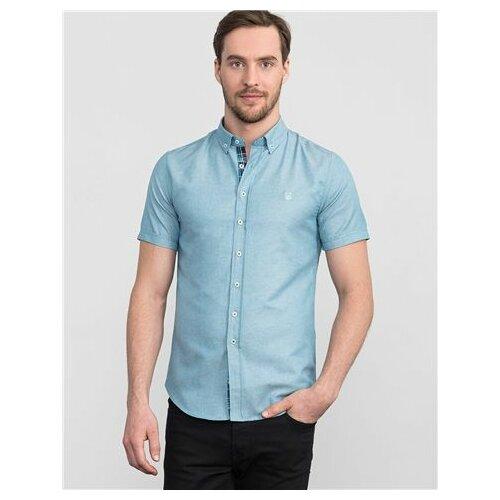 Tudors slim fit jednobojna plava košulja dugih rukava sa kragnom (DR200041-225) Slike