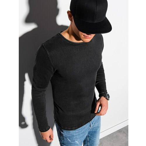 Ombre Odjeća Muški džemper E180 crna | siva  Cene
