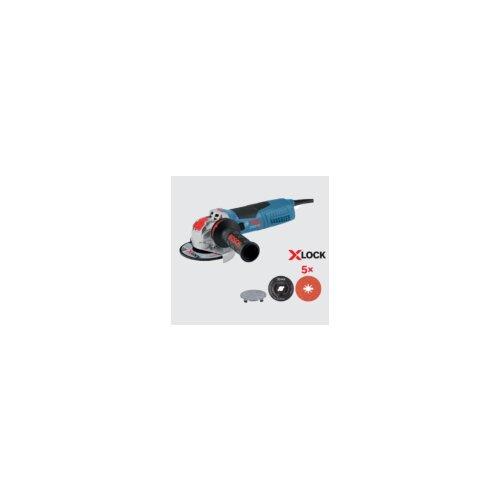Bosch ugaona brusilica mala GWX 19-125 S + 5x X-Lock Prisma fiber diska, 125mm, 1900W 0615990M34 Slike