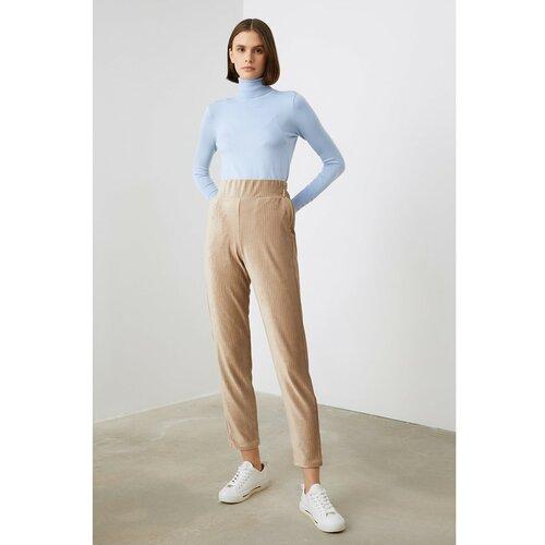 Trendyol Kamene pletene pantalone sive boje Slike