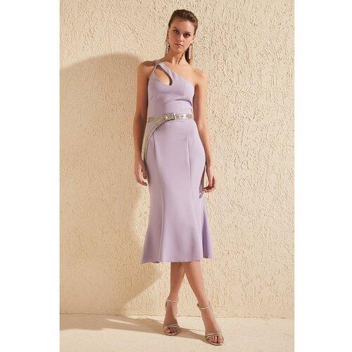 Trendyol Lila ovratnik Detaljna haljina  Cene