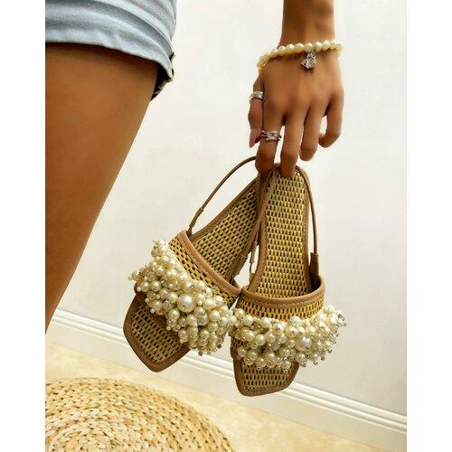 Hop Hop 15955 - ženske sandale marina - bež  Cene