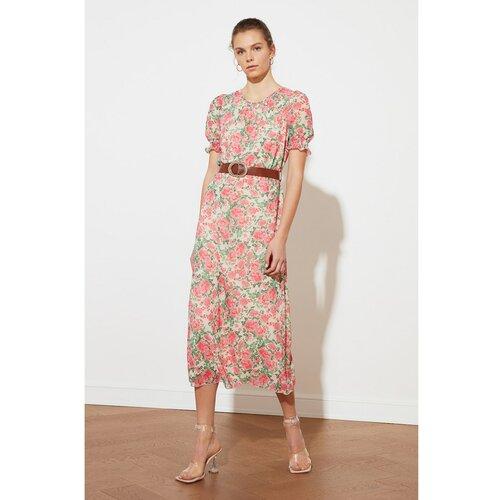 Trendyol Ženska haljina Pojas tamno crvena pink  Cene
