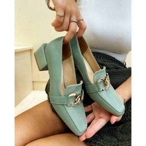 Hop Hop 17689 - ženske cipele rajata - zelena Slike