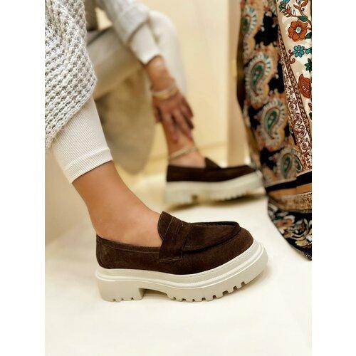 Hop Hop 17706 - kožne cipele meena - smeđa Slike