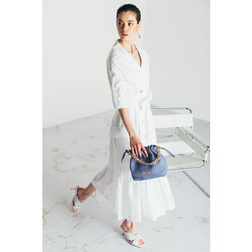 Mona bela ženska haljina oversize kragne 54115001-1  Cene