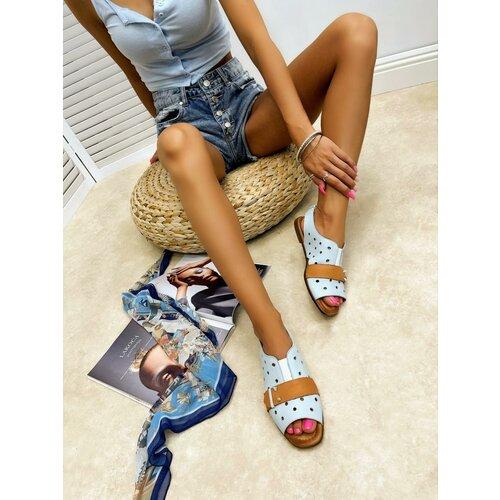 Hop Hop 16668 - kožne sandale reia - plava  Cene