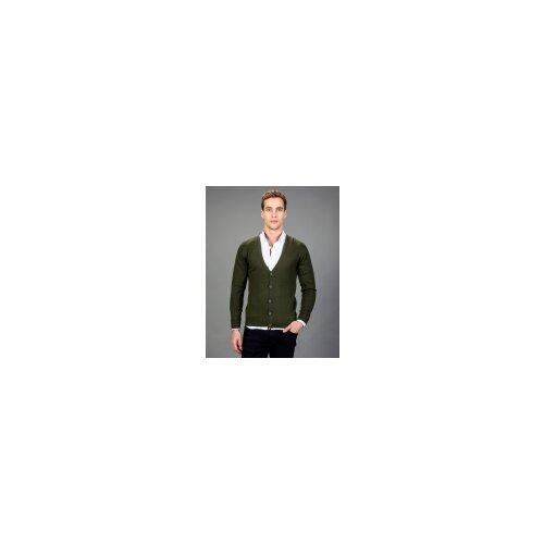 Tudors zeleni kardigan v izrez (KZ16036-48)  Cene