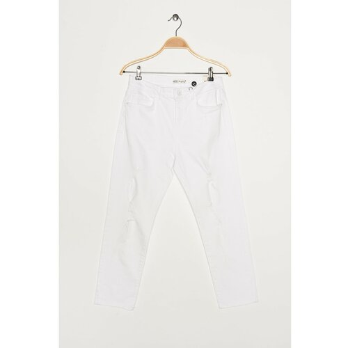 Koton Ženske bijele traperice bijele boje  Cene