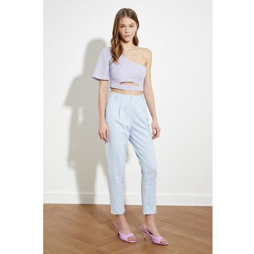 Trendyol Ženske pantalone Basic bela Slike