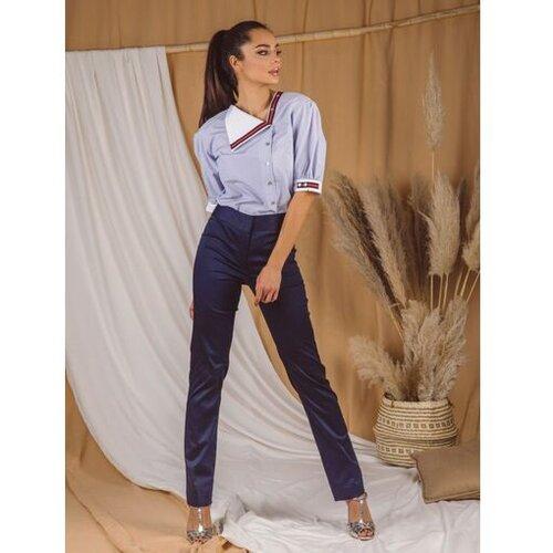 AMC ženske pantalone 045Q teget Slike