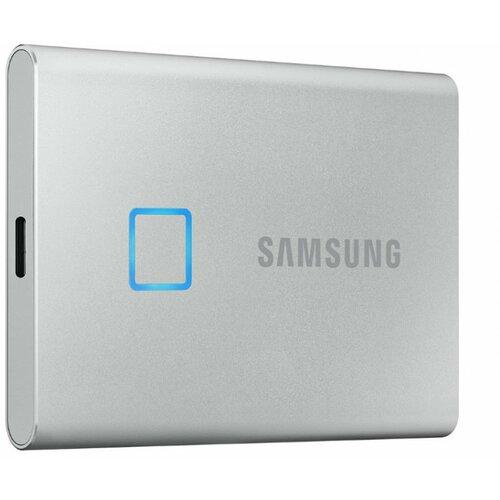 Samsung Portable T7 Touch 500GB MU-PC500S srebrni eksterni ssd hard disk Slike