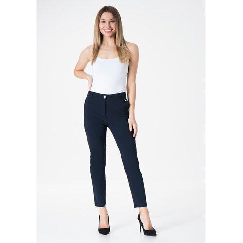 MiR Ženske hlače 259 Navy Blue blue bijela  Cene