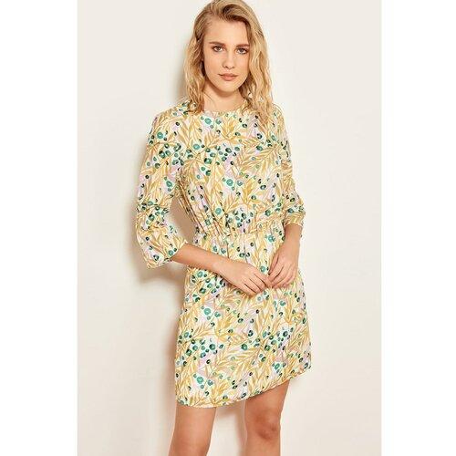 Trendyol višebojna elastična haljina Slike