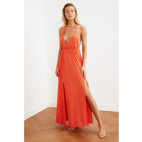 Trendyol Ženska haljina Maxi Orange krema | Crveno  Cene