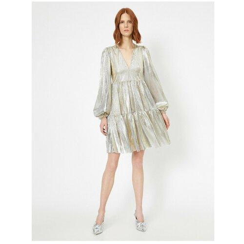 Koton FirFir detaljna haljina bela   siva  Cene