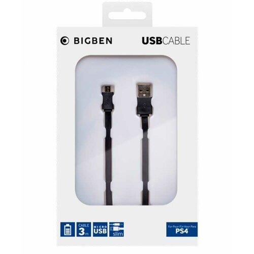 Bigben kabl PS4 micro usb flat 3m Slike