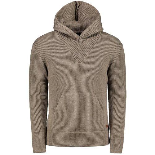 Ombre Odjeća Muški džemper E181 crni | smeđa | pink  Cene